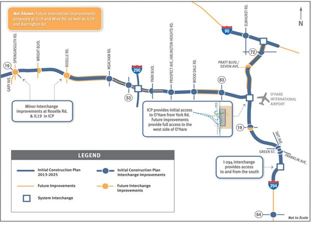 Eglin-O&#39 Hare Western access project construction plan map
