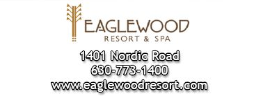 Eaglewood Resort and Spa logo and contact information