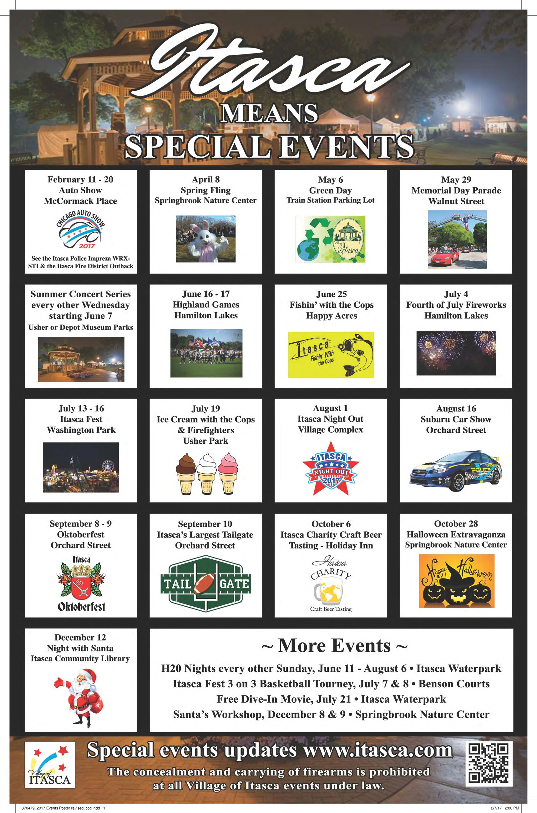 2017 Events Poster