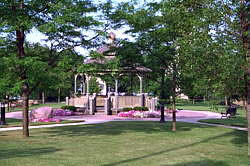 A gazebo in the Village of Itasca