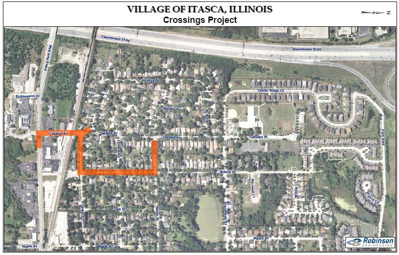 Village of Itasca Crossings Project map